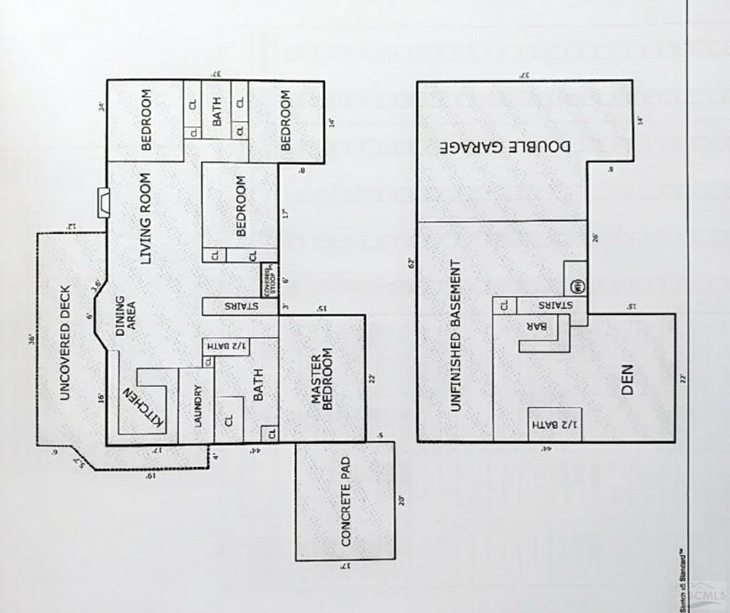 Home Floorplan main & basement