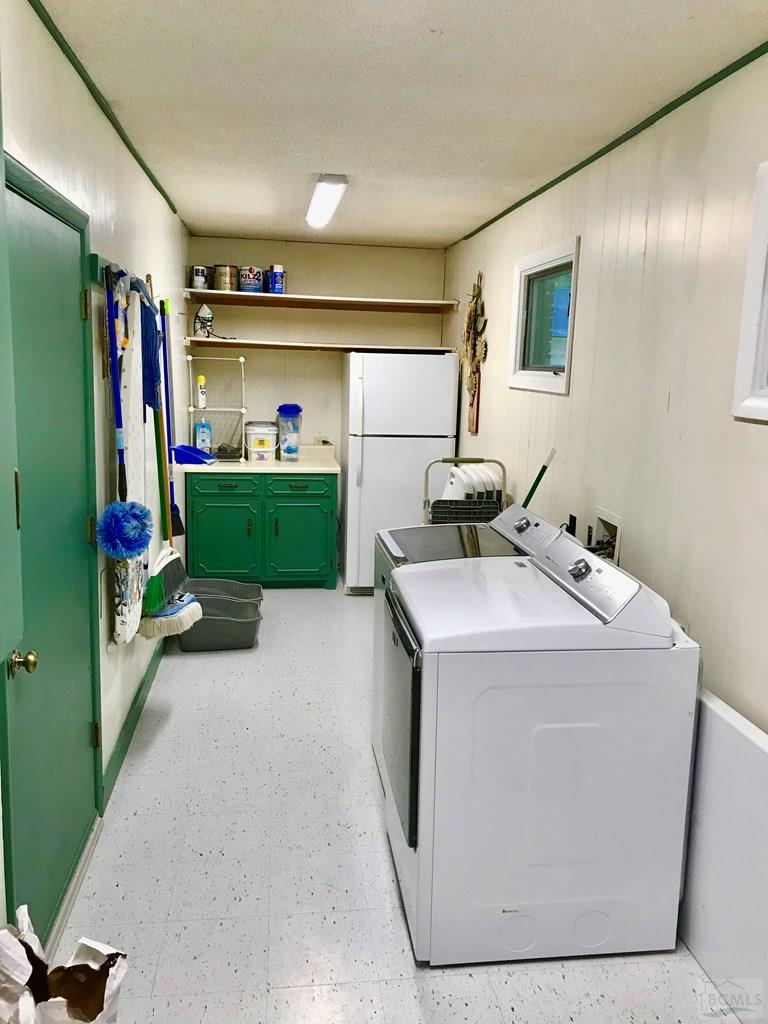 Large, bright laundry area